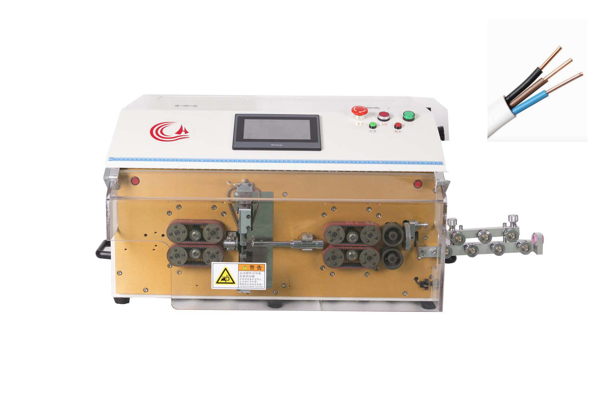 HC-608K1雷火官网app双层护套切断剥外皮内芯一体机